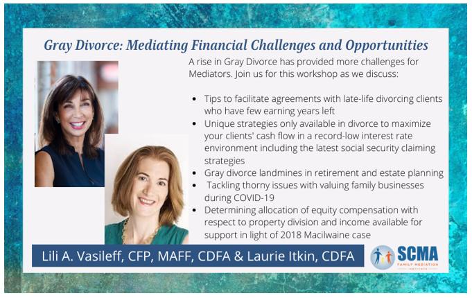 scma gray divorce Lili Vasileff mediating financial challenges family mediation